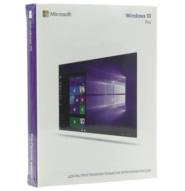 ОС MS Windows 10 Профессиональная 32/64 bit Rus USB (BOX) (FQC-09118)