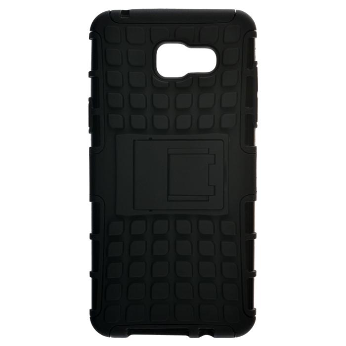 SkinBOX Defender case для Samsung Galaxy J3 (2016), Black - (Samsung Galaxy J3 (2016); пластик, резинка; 15 x 10 x 2 см)