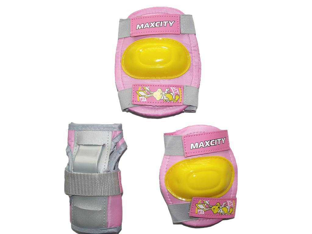 Защита роликовая MaxCity Little Rabbit, размер М, pink