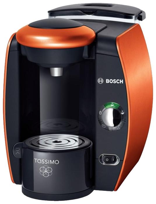 Bosch TAS4014E Orange - эспрессо, автоматическое приготовление; кофе - капсулы; нагреватель - термоблок; резервуар 2 л; рожок - --