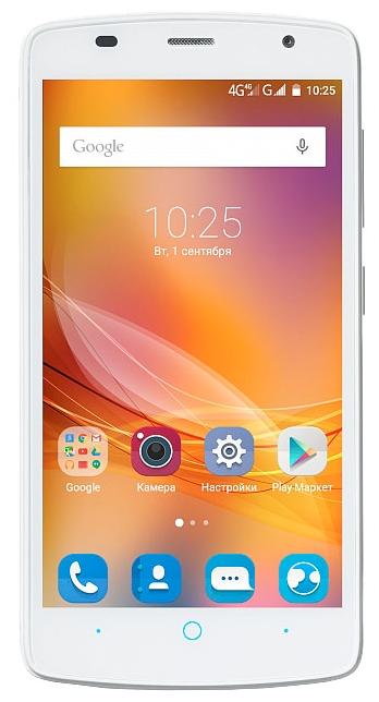ZTE Blade L5 8Gb white - (; GSM 900/1800/1900, 3G; SIM-карт 2 (Micro SIM); 1300 МГц; RAM 1 Гб; ROM 8 Гб; 2150 мАч; 5 млн пикс., светодиодная вспышка; есть, 2 млн пикс.; датчики - освещенности, приближения)