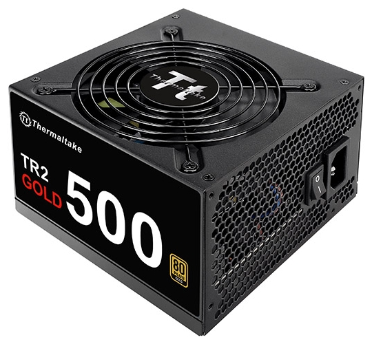 Thermaltake TR2 Gold 500W - 500 Вт, 1 вентилятор (120 мм), PFC активный, линия +12В(1) - 42 A • Molex: 4 / SATA: 6 / CPU 4+4pin: 1