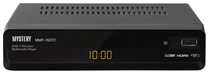 Mystery MMP-76DT2, Black - Исполнение внешнее; автономный; DVB-T, DVB-T2; HD - 720p, 1080i; видеозахват - нет; пульт ДУ - есть • Отложенный