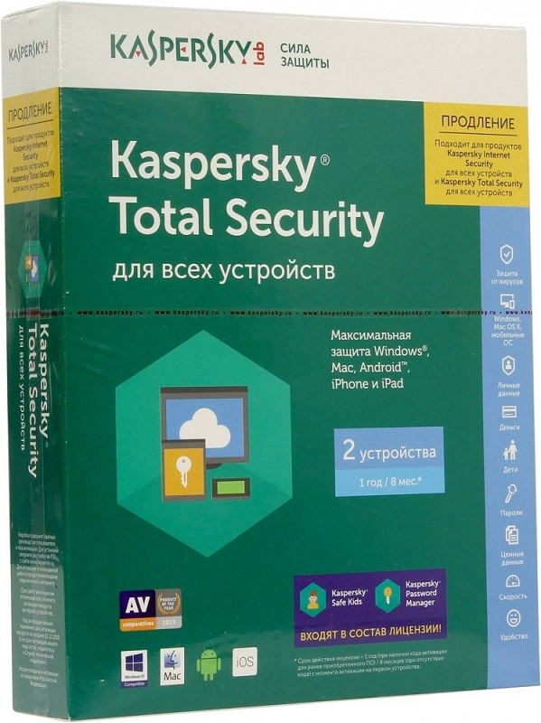Антивирус Kaspersky Total Security Multi-Device KL1919RBBFR