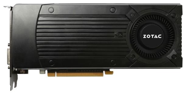 ZOTAC GeForce GTX 960 (2Gb GDDR5, DVI-I + HDMI + 3xDP) - (NVIDIA GeForce GTX 960, 28 нм, 1127 МГц, 2048 Мб GDDR5@7010 МГц 128 бит, TDP 120 Вт • Разъёмы: DVI, поддержка HDCP, HDMI, DisplayPort x3.)