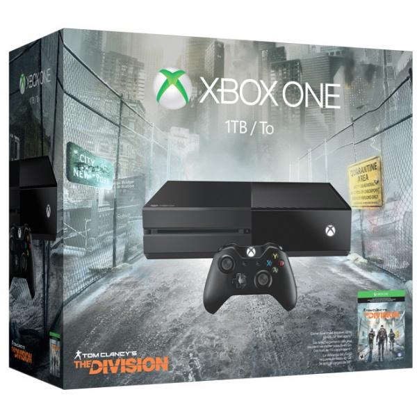Microsoft Xbox One 1 ТБ + Tom Clancy's The Division - (Тип: стационарная. Жесткий диск: есть, 1000 Гб. Поддержка HD: есть. Разъемы: HDMI, USB x2, оптический аудиовыход. Коммуникации: Wi-Fi (802.11b/g/n), Ethernet. Тип процессора: 8-ядерный AMD)