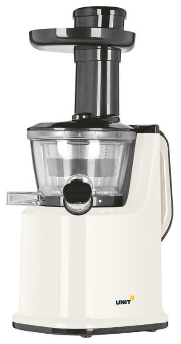Unit UCJ-419 beige - Тип: вертикальная шнековая соковыжималка. Мощность: 150 Вт. Кол-во скоростей: 1. Макс. скорость вращения: 65 об