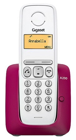 Радиотелефон Gigaset A230, Purple S30852-H2415-S304