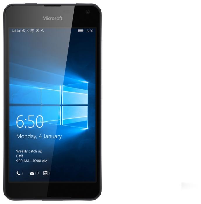 Microsoft Lumia 650 Dual Sim black - (; GSM 900/1800/1900, 3G, 4G LTE; SIM-карт 2 (nano SIM); 1300 МГц; RAM 1 Гб; ROM 16 Гб; ; 8 млн пикс., светодиодная вспышка; есть, 5 млн пикс.; датчики - освещенности, приближения)