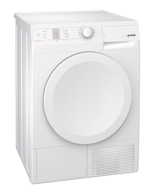 Gorenje D844BH, White - (Конденсационная сушильная машина; загрузка до 8 кг (фронтальная); программ 15; материал барабана - нержавеющая сталь; энергопотребление B; дисплей цифровой; мощность (Вт) 2500; размеры (ВШГ) 850 x 600 x 600 мм.)