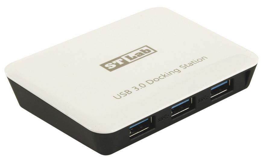 USB-хаб STLab U-810 (3x USB 3.0, с сетевой картой)