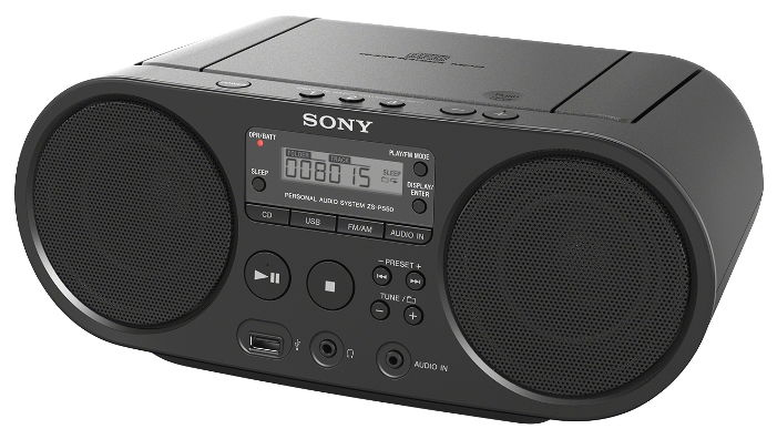 Магнитола SONY ZS-PS50, Black ZS-PS50/BС