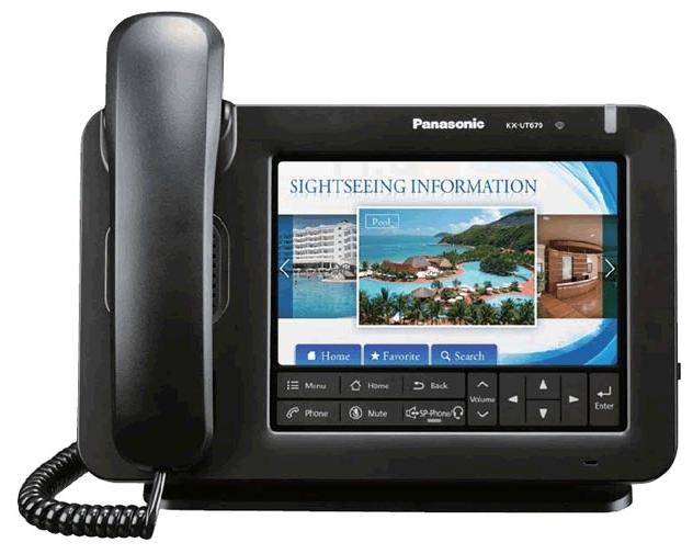 VoIP-телефон Panasonic KX-UT670RU, USB, WAN, LAN, Gigabit LAN, есть определитель номера