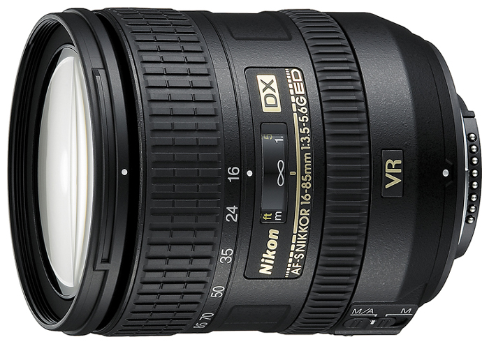 Nikon 16-85 mm f/3.5-5.6G ED VR AF-S DX Nikkor - (стандартный Zoom; ФР 16 - 85 мм; ZOOM 5.3x; F3.50 - F5.60 • Автофокус есть. • Неполнокадровый да)