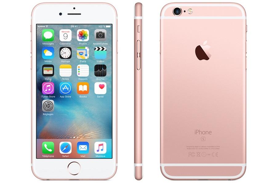 Apple iPhone 6S 32Gb Rose Gold - (; GSM 900/1800/1900, 3G, 4G LTE, LTE-A, VoLTE; SIM-карт 1 (nano SIM); Apple A9; ROM 32 Гб; 12 млн пикс., встроенная вспышка; есть, 5 млн пикс.; датчики - освещенности, приближения, гироскоп, компас, барометр, считывание отпечатка пальца)