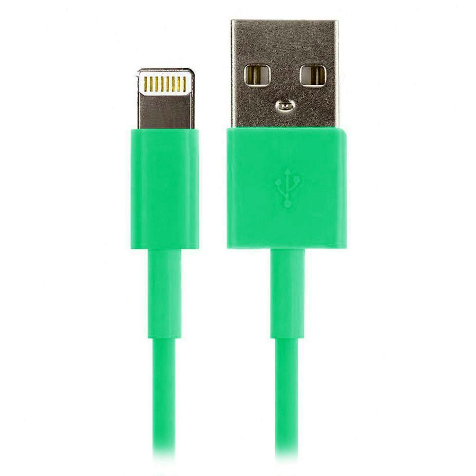 Дата-кабель Smartbuy USB - Lightning 1,2 м зеленый iK-512c green