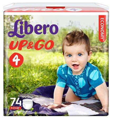 Подгузники Libero Up&Go Giga Pack (7-11 кг) 74 шт.