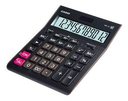 Калькулятор Casio GR-12 12-разрядный black GR-12-W-EH