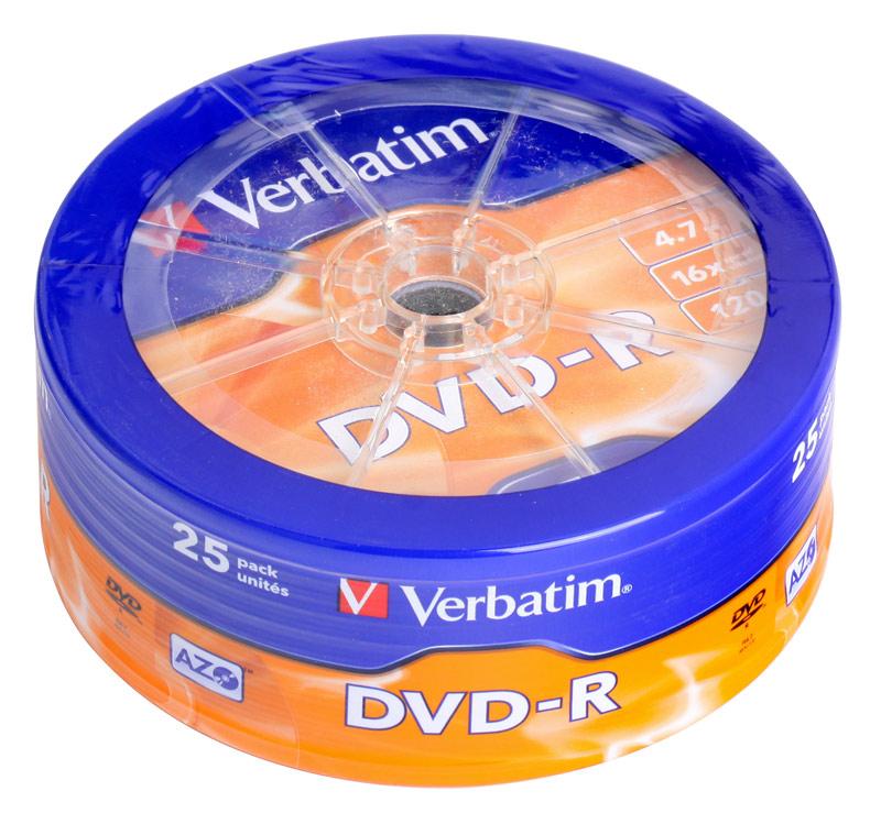 DVD-диск Verbatim DVD-R 4,7 Gb,16x Cake Box 43730