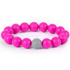 Itzy Ritzy Round Bead Bracelet Hot Pink (18655)