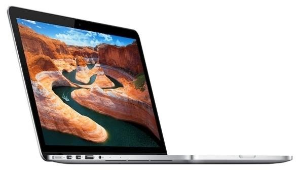 Apple MacBook Pro MF839RU/A (Core i5-5257U) - (Core i5 2700 МГц. Экран 13.3 дюймов, 2560x1600, широкоформатный TFT IPS. ОЗУ 8 Гб LPDDR3 1866 МГц. Накопители SSD 128 Гб; DVD нет. GPU Intel Iris Graphics 6100. ОС MacOS X)