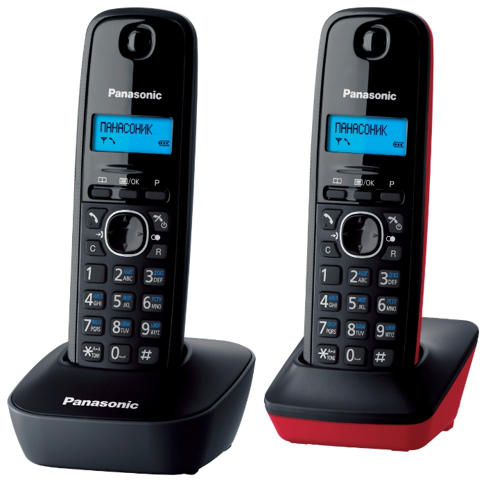 Радиотелефон Panasonic KX-TG1612RU3 dark grey/red
