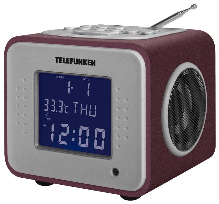 Радиобудильник TELEFUNKEN TF-1625U, Burgundy/Purple