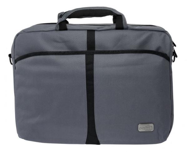 """PC PET 600D PCP-A1115 (PCP-A1115GY) Grey - (сумка; для устройства с экраном 15.6""""; материал синтетический (нейлон); 42.5x33x6 см • Отделение-органайзер - есть. Внешние отделения - есть.)"""