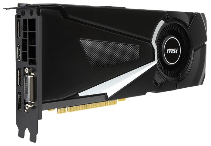 Видеокарта MSI GeForce GTX 1070 1531Mhz PCI-E 3.0 8192Mb 8008Mhz 256 bit DVI HDMI HDCP, GTX 1070 AERO 8G OC