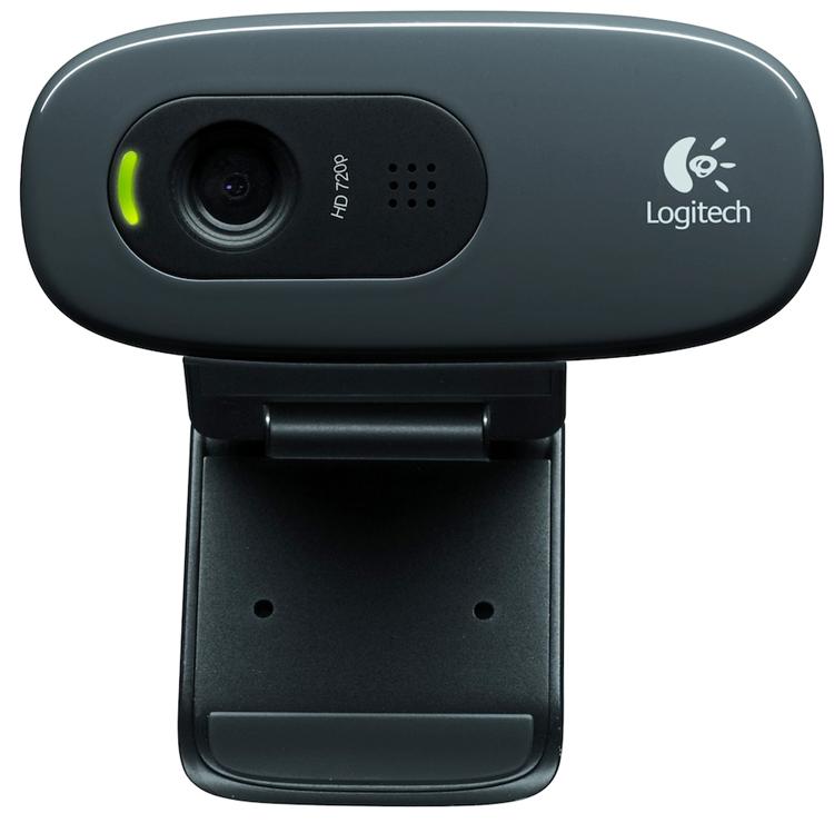 Logitech HD Webcam C270 Black 960-000636 - 1280x720 (интерполированное); 0.7 млн пикс.; микрофон встроенный; USB 2.0