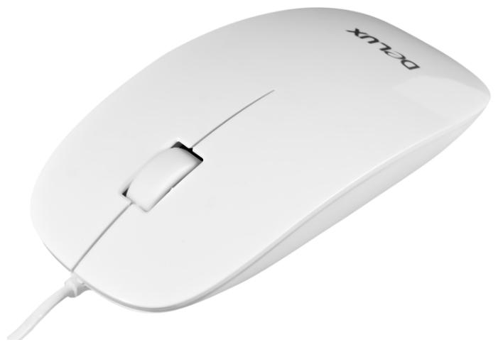 Delux DLM-111 White USB white - оптическая светодиодная; кнопок 3; 1000 dpi; USB • 113x57x25 мм DLM-111 белый