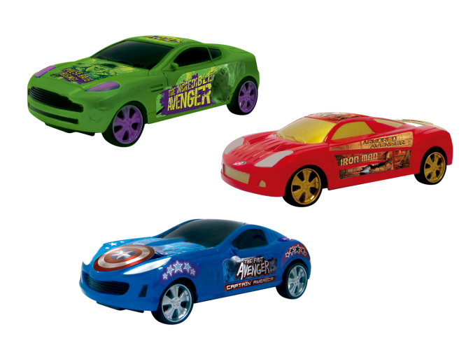 Машинка Yellow Мстители Игровой набор из 3-х машинок