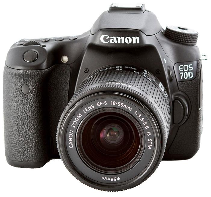 Canon EOS 70D KIT (EF-S 18-55mm IS STM) - (20.9 млн, 1920x1080, 7 кадр./сек, ЖК-экран: поворотный, сенсорный, 1040000 точек, 3 дюйма)