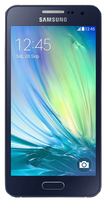 Samsung Galaxy A3 SM-A300F, Black - (Android 4.4; GSM 900/1800/1900, 3G, LTE, LTE Advanced Cat. 4; SIM-карт 2; 1200 МГц; RAM 1 Гб; ROM 16 Гб; 1900 мАч; 8 млн пикс., светодиодная вспышка; есть, 5 млн пикс.; датчики - освещенности, приближения, компас)
