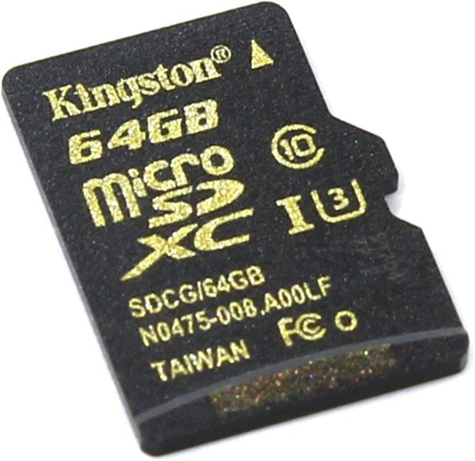 Карта памяти Kingston SDCG/64GBSP 64Gb