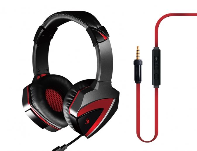 Гарнитура A4Tech Bloody G500 Black Red