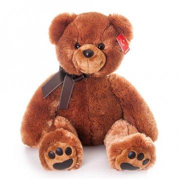 Мягкая игрушка Aurora Медведь 70 см, dark brown