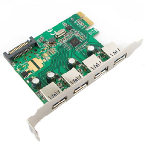 Контроллер Speed Dragon EU312B-2 (PCI-Ex1, 4x USB3.0, SATA power)