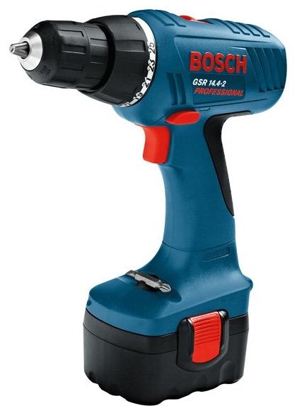 Bosch GSR 14,4-2 1.5Ah x2 Case, 2 аккумулятора [0601918g20] - (безударный; патрон быстрозажимной, D= 1 - 10 мм; скоростей 2; 1400 об/мин; питание от аккумулятора • Диам.сверления - дерево 26 мм - металл 12 мм)