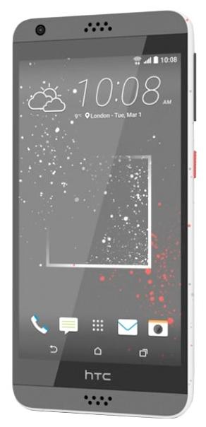 HTC Desire 630 Dual Sim 16 Gb white - (; GSM 900/1800/1900, 3G; SIM-карт 2 (nano SIM); 1600 МГц; RAM 2 Гб; ROM 16 Гб; 2200 мАч; 13 млн пикс., светодиодная вспышка; есть, 5 млн пикс.; датчики - освещенности, приближения)