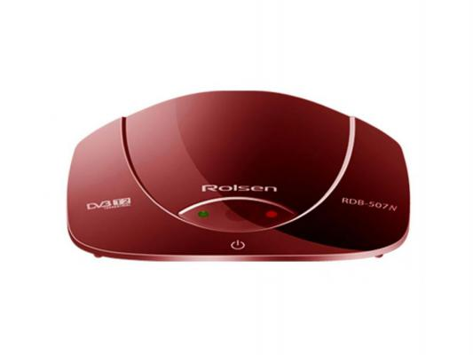 Rolsen RDB-507N, red - Исполнение внешнее; автономный; DVB-T, DVB-T2; HD - 720p, 1080i, 1080p; видеозахват - нет; пульт ДУ - есть •