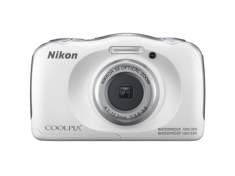 Цифровая фотокамера Nikon Coolpix W100, white VQA010K002