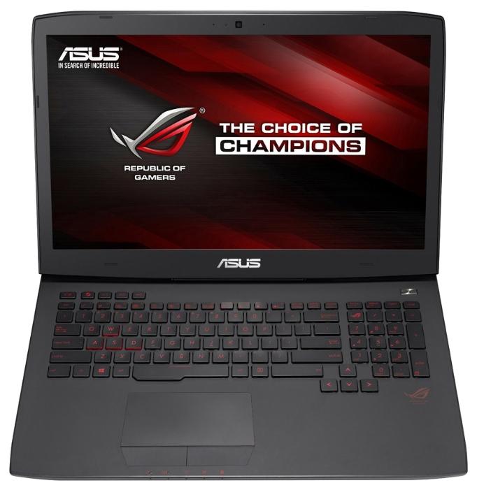 ASUS ROG G751JY (90NB06F1-M07110), Black - (Core i7 4750HQ 2000 МГц. Экран 17.3 дюймов, 1920x1080, широкоформатный TFT IPS. ОЗУ 16 Гб DDR3L. Накопители HDD+SSD 1128 Гб; DVD-RW, внутренний. GPU NVIDIA GeForce GTX 980M. ОС)