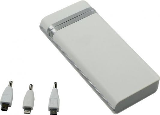 KS-IS KS-230 20000mAh silver - (20000 мАч; 2.1 А; Вход - micro USB / Выход - USB • Индикатор заряда - есть. Фонарик - есть.)