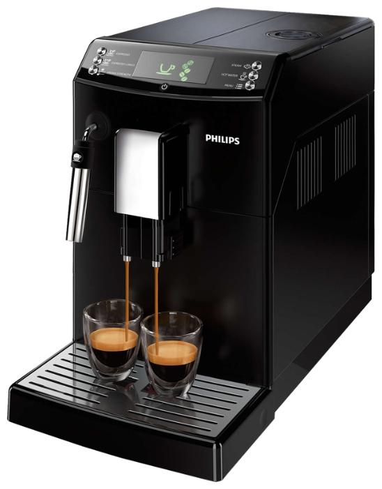 PHILIPS HD8826/09 - эспрессо, автоматическое приготовление; кофе - молотый / зерновой; нагреватель - бойлер; резервуар 1.8 л; макс