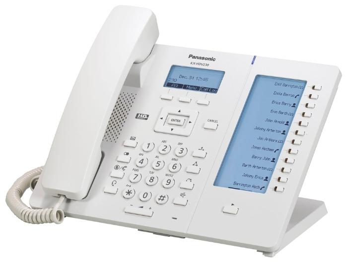 VoIP-телефон Panasonic KX-HDV230RU, white, WAN, LAN, Gigabit LAN, 6 линии, есть определитель номера