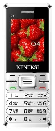 Keneksi Q4 Silver - (1.7 дюйм., 160x128, кол-во SIM-карт: 2, фотокамера: 0.10 млн пикс., встроенная вспышка)