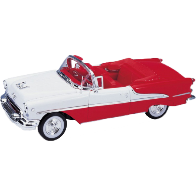 Машинка Welly Oldsmobile Super 1955, white / red