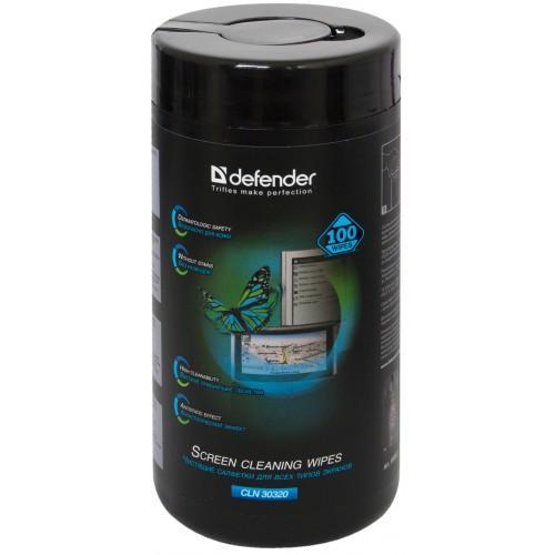 Чистящие салфетки Defender ECO для экранов всех видов 30320