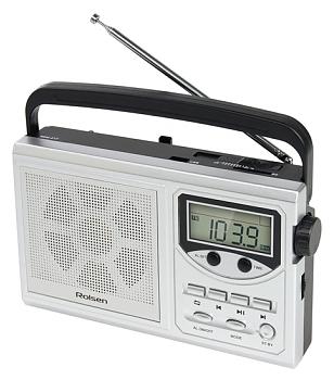 Радиобудильник Rolsen RBM-217, silver 1-RLAM-RBM217SL